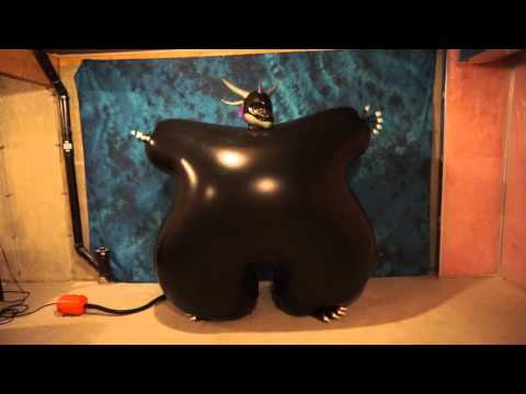 Huge Inflatable Suit Inflate to Burst Popping