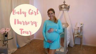 BABY GIRL NURSERY TOUR!   Princess Nursery   Posh Nursery   Pink, Gray & White Nursery