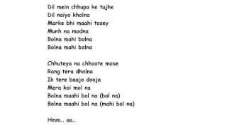 BOLNA FULL SONG LYRICS – Kapoor & Sons | Arijit Singh, Asees Kaur