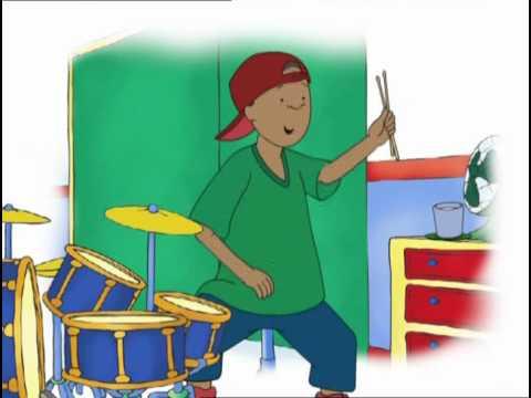 Caillou toca la bateria