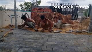 build a curved brick step my sopheak power