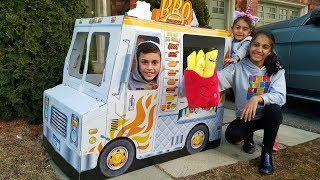 Kids Pretend Play Toys Cooking Food Truck with Giant Fries! family fun video