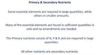 Nutrient Management: NPK part 1