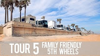 Tour 5 Family Friendly 5th Wheels: Perfect For Full Time Traveling Families!