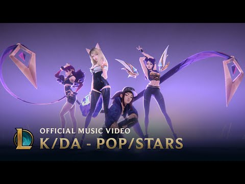 K DA POP STARS ft Madison Beer G I DLE Jaira Burns Official Music Video League of Legends