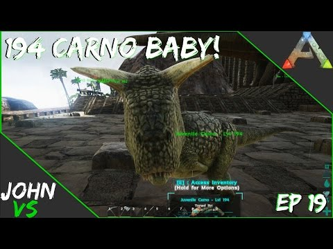 Ark: Survival Evolved YMCArk - 194 Baby Carno!