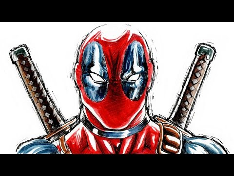 Deadpool - speed drawing / disegno in time lapse - NFJ drawings