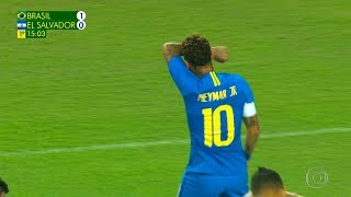 Neymar vs El Salvador (Away) HD 1080i (11/09/2018)