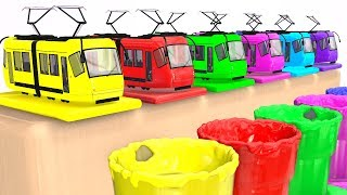 LEARN COLORS for Kids w Trains - Cars Superheroes & Soccer Balls Learning Video for Babies