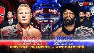 WWE Survivor Series 2017 - Jinder Mahal vs Brock Lesnar | Champion vs Champion Match - WWE 2K18