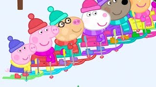 Peppa Pig Episodes in 4K - Skiing with Peppa! - 12 DAYS OF PEPPA