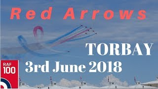 Red Arrows Display at Torbay 3rd June 2018 with comms