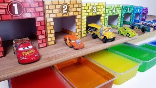 Learn Colors and Numbers with wooden cars and Disney Cars Mcqueen and friends