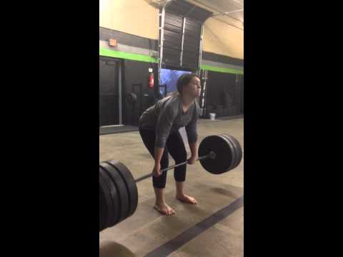 Anna. 290# deadlift. 14 years old. Little Badass. And humble. That is all.