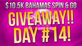 GIVEAWAY! $10.5K PokerStars Bahamas Package Spin & Go's Day #14!!