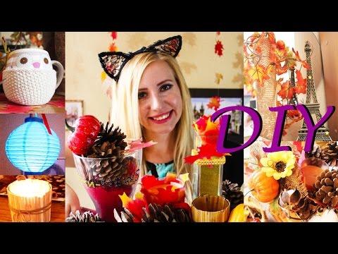 Осенний декор своими руками Идеи для дома 2016 DIY Tumblr Fall Room Decor Декор комнаты - youtube,youtuber,utube,youtub,u tube,v