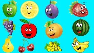 Lær farger med frukt for barn Lære opplæringsvideo Småbarn og førskolebarn