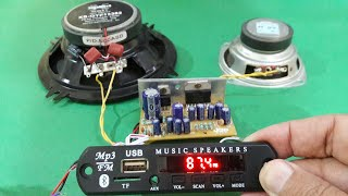 Bluetooth with Stereo Amplifier! LIVE ! (step by step)