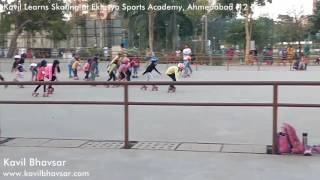 How to Learn Skating   Eklavya Sports Academy   Kids Learning Roller Skating