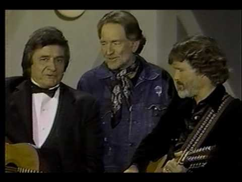 Johnny Cash & Willie Nelson & Kristofferson Me and Bobby McGee