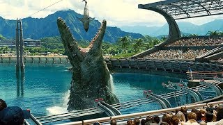 Mosasaurus Feeding Show Scene - Jurassic World (2015) Movie Clip HD