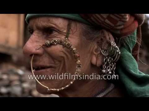 Xxx Mp4 Old Woman Wears Traditional Nath Or Nose Ring In Uttarakhand 3gp Sex