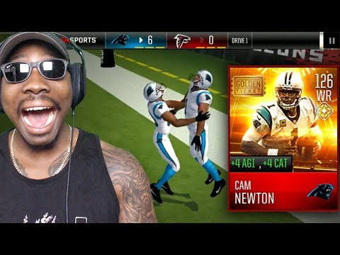 Xxx Mp4 126 OVR GOLDEN TICKET CAM NEWTON AT WIDE RECEIVER Madden Mobile 18 Gameplay Pack Opening Ep 57 3gp Sex