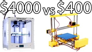 ULTIMAKER 2 vs PRINT-RITE DIY 3D Printer & How to Bed Level - PRINTER PARTY | Make Test Battle