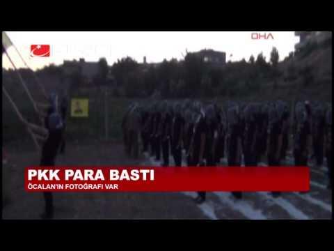 PKK PARA BASTI, ÜZERİNDE ÖCALAN FOTOĞRAFI VAR