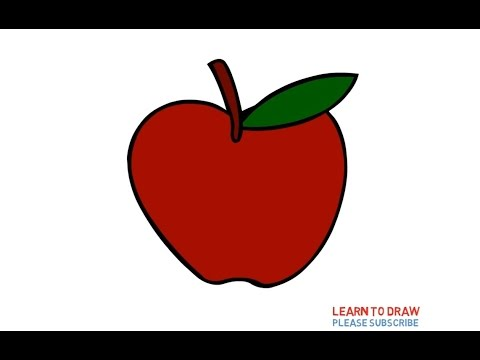 How To Draw a Apple Step By Step Easy For Kids