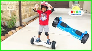 HOVERBOARD CHALLENGE!!! Halo Rover Family Fun Playtime with Ryan ToysReview