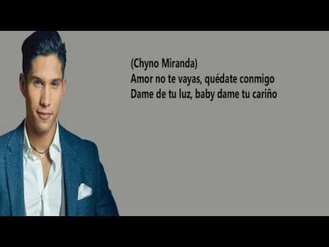 Chyno Miranda - Quédate Conmigo ft. Wisin, Gente De Zona ( Letras / Lirycs )