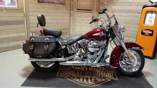 2017 Softail Heritage CLassic FLSTC in mysterious red & velocity red