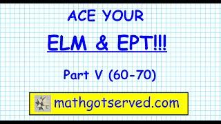ELM EAP EPT math Test practice questions part v 60 to 70