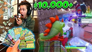 1 KILL = 1 LOTTERY TICKET FOR MY LITTLE BROTHER IN FORTNITE! $10,000 JACKPOT! | David Vlas