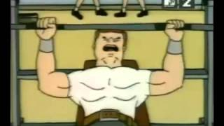Beavis and Butthead at the gym
