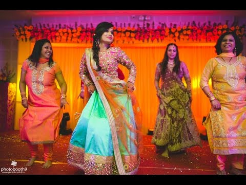 Sangeet dance performance: Bride's surprise entry sets the stage on fire in Indian wedding 2016