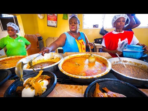 First Time Trying GHANAIAN FOOD Amazing Palm Nut Soup in Accra Ghana West Africa