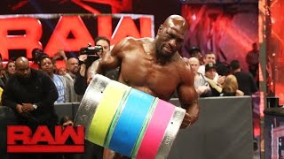 The New Day resurrect the Keg Carry Challenge for Titus O'Neil: Raw, Jan. 9, 2017