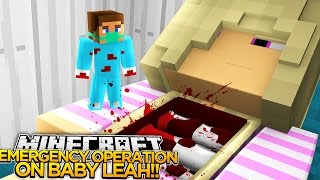 EMERGENCY OPERATION ON BABY LEAH!! - Little Donny Minecraft Custom Roleplay.