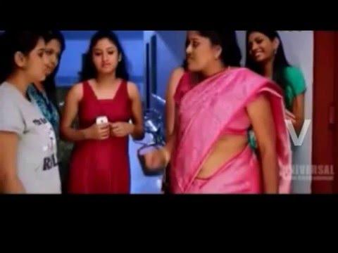 Hot Telugu Actress Aunty Navel in pink saree