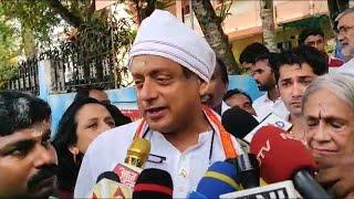 Congress' Shashi Tharoor cast his vote in Kerala's Thiruvananthapuram