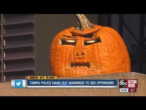 Police tracking sex offenders in Halloween season