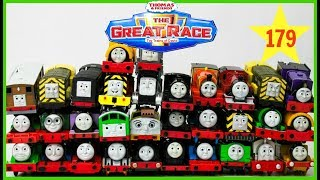 THOMAS AND FRIENDS THE GREAT RACE #179 Biggest Trackmaster  Race! Thomas & Friends Toy Trains Kids