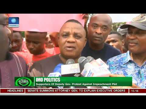 Xxx Mp4 Supporters Of Imo Deputy Governor Protest Against Impeachment Plot 3gp Sex