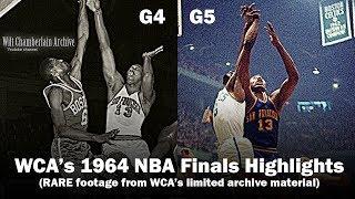 WCA's 1964 NBA Finals Highlights - Prime Wilt Chamberlain's Warriors vs Bill Russell's Celtics