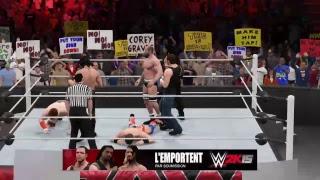 WWE 6MAN  SHEAMUS/CESARO/THE MIZ Vs SETH ROLlINS/DEAN AMBROSE/ROMAN REIGNS