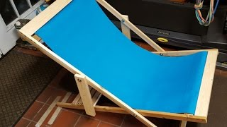 DIY Folding Beach Chair - Super Easy Project