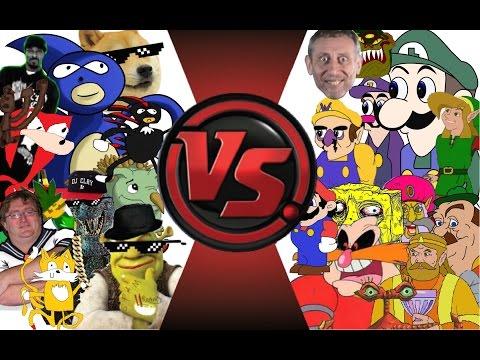 MLG vs YOUTUBE POOP TOTAL WAR Sanic vs Weegee 2 Cartoon Fight Club Episode 23
