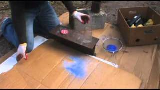 GLASS BOTTLES to SAND glass recycling DIY colored glass